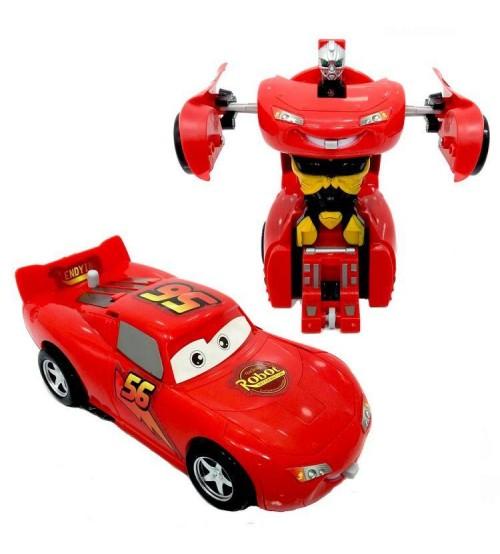 Cars Robota Donusen Cek Birak Araba Simsek Mcqueen Transformers