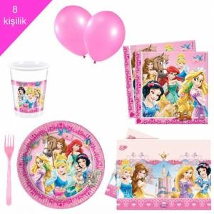 Disney Prensesleri Pamuk Prenses 8 Kisilik Dogum Gunu Seti