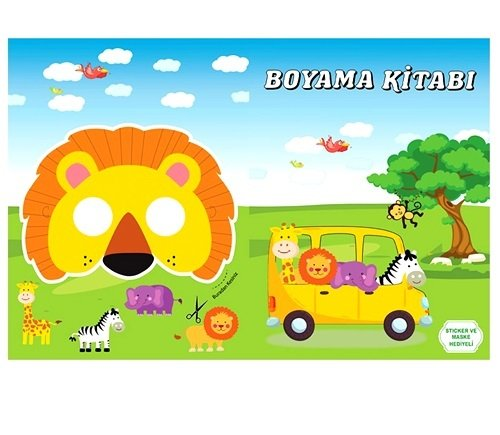 Safari Konsept Boyama Kitabi Stickerli 16 Sayfa 3 81 Tl Kdv