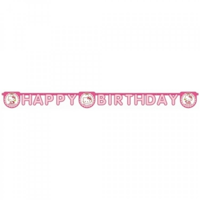 Hello KittyTemalı Happy Birthday Banner