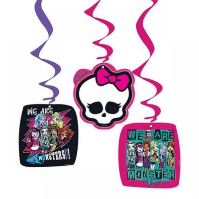 Monster High Temalı 3 Lü Asma İp Süs