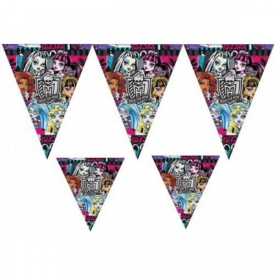 Monster High Temalı Bayrak Set 3,20 Metre