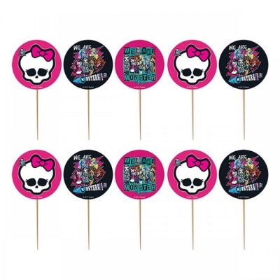 Monster High Temalı Kürdan Süs 10 Adet